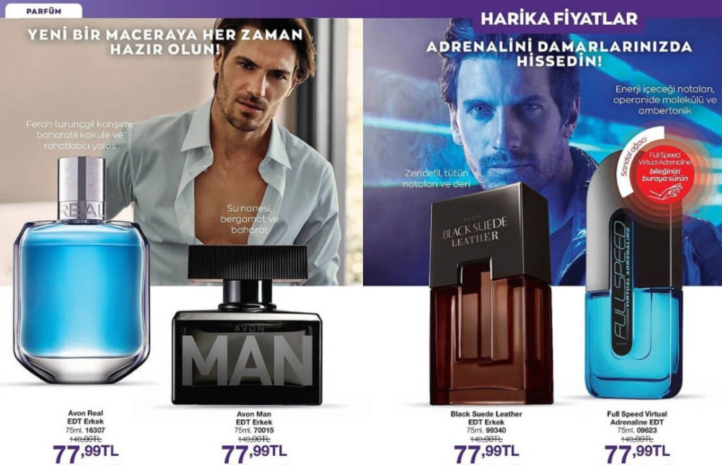 Avon Erkek parfüm çeşitleri