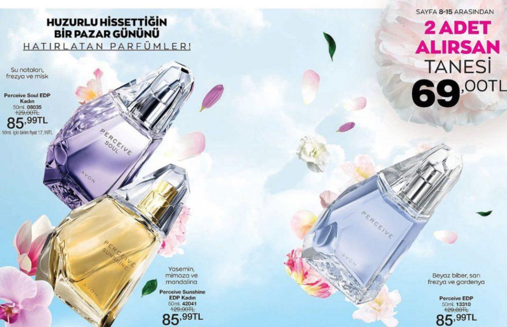 Avon Perceive parfüm çeşitleri