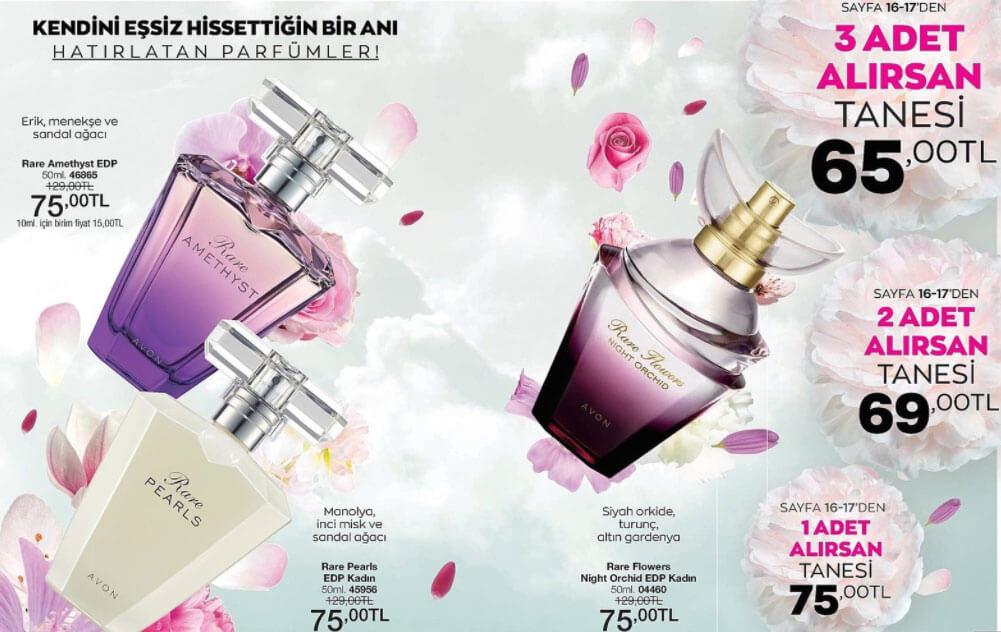 Rare Parfüm çeşitleri